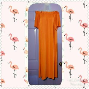NWT ZARA  WOMEN ON/OFF SHOULDER MAXI DRESS-SIZE L